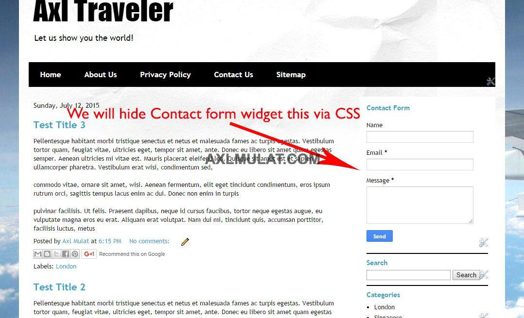 How to Add Contact Form in Blogger Blog Page - AxlMulat.com