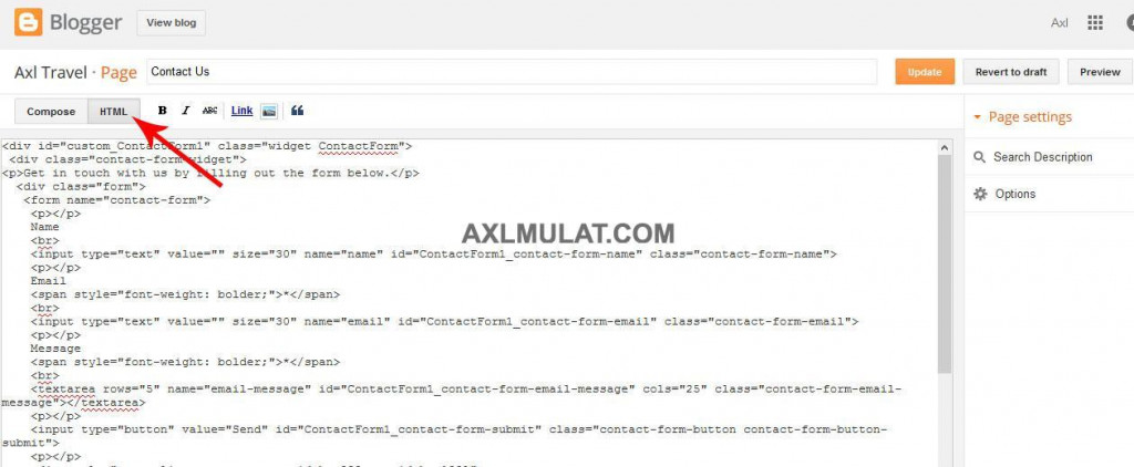 How-Add-Contact-Form-to-Blogger-Blog-Page-4