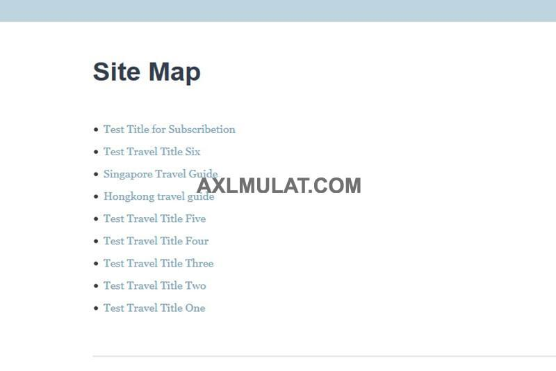 how to create sitemap page in blogger blog step by step axlmulat com