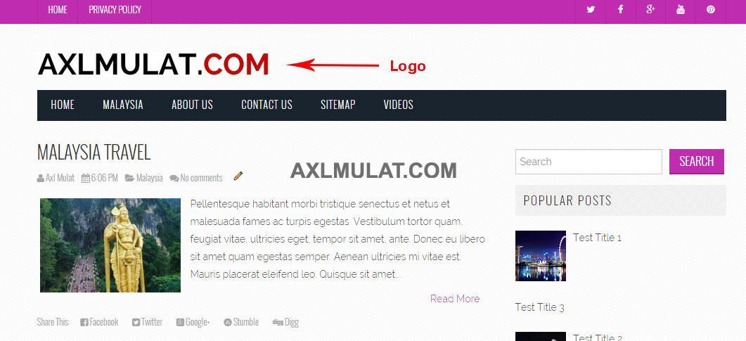 How to Add logo in blogger blog header - AxlMulat com