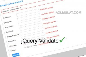 Creating Simple jQuery Validation in Registration Form